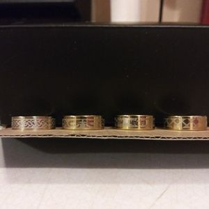 Other - Lot of mens goldtone stainless steel rings